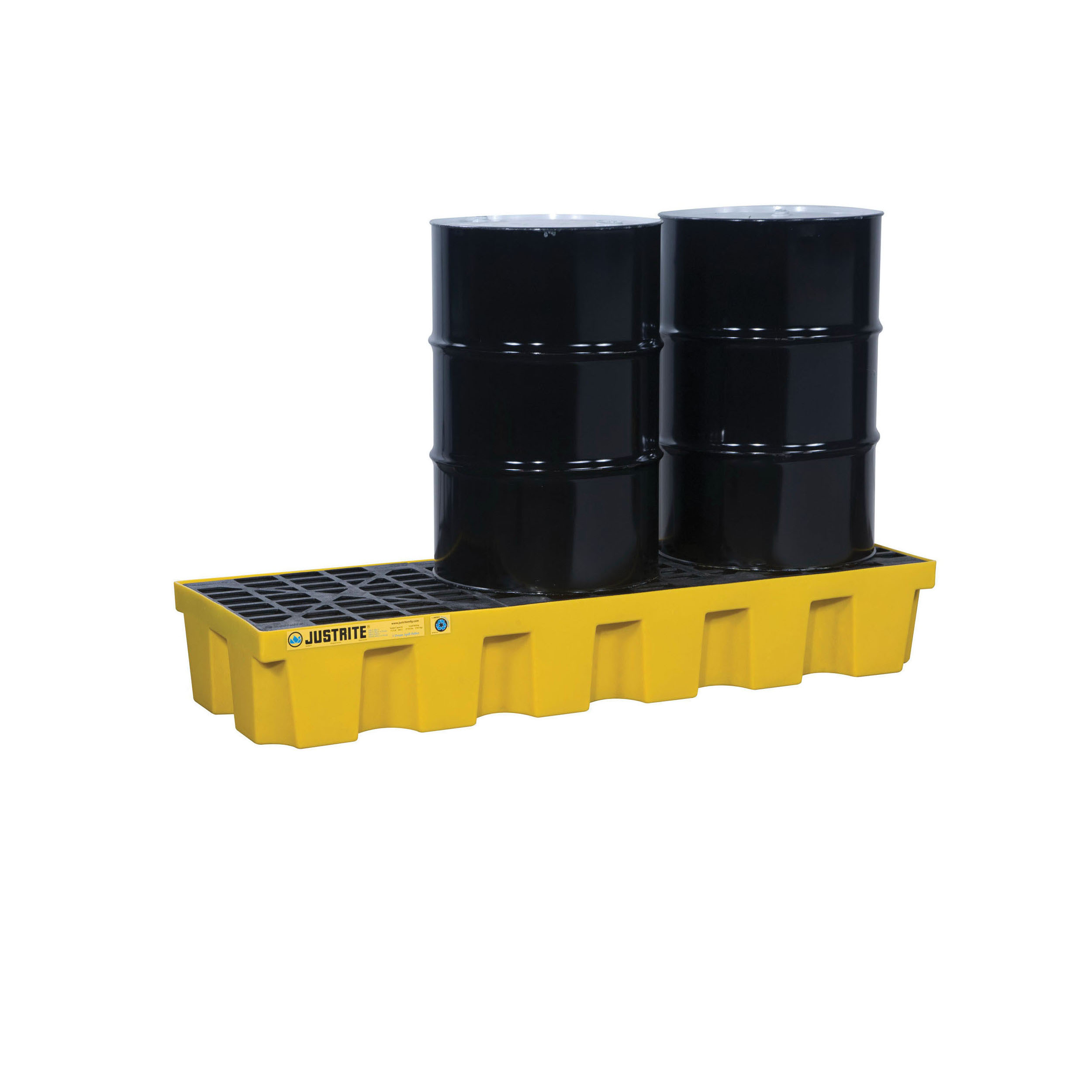 Justrite® 28626 EcoPolyBlend™ Spill Control Pallet, 3 Drums, 75 gal Spill, 3750 lb Load, 35% Recycled Polyethylene