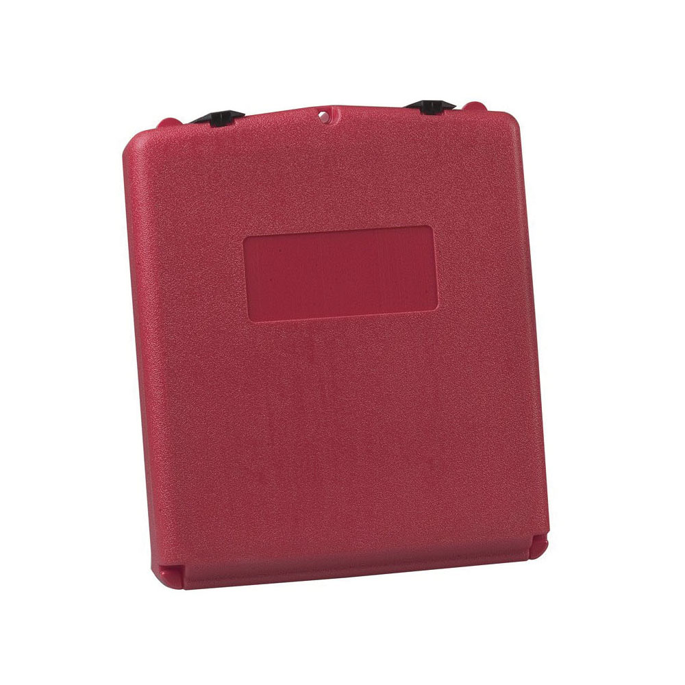 Justrite® S23306 Large Document Storage Box, 3.563 in Exterior, 2.3 in Interior D x 13.3 in Interior, 15-3/4 in Exterior H, Polyethylene, Red