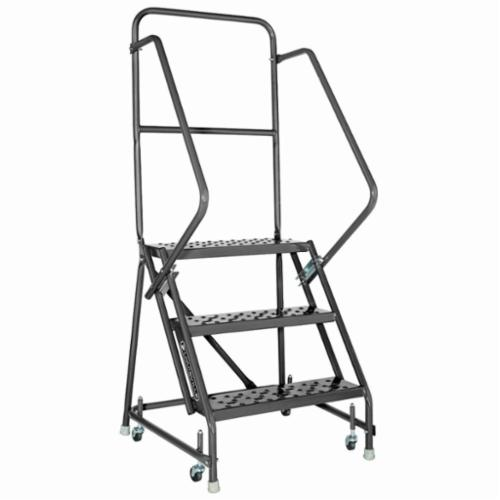 Louisville® GSW2403-W01 Type IAA Rolling Warehouse Ladder With 20 in Extra Deep Top, 3 ft Ladder, 450 lb Load, 2 ft 6 in