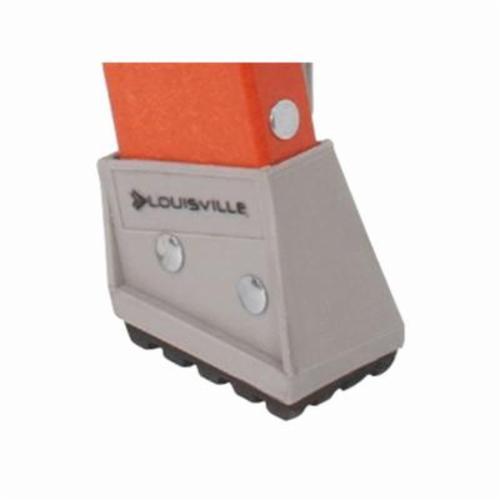 Louisville® DaBoot™ PK136A Shoe Kit, For Use With Louisville® FP1403HD, FP1404HD Platform Ladders, FS1403HD, FS1404HD and FS1405HD Step Ladders, Black/Gray