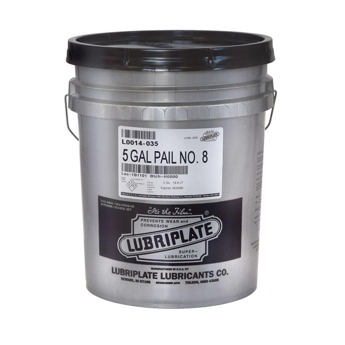 Lubriplate® L0014-035 NO 8 Petroleum Based Machine Oil, 35 lb Pail, Mineral Oil Odor/Scent, Liquid Form, Amber