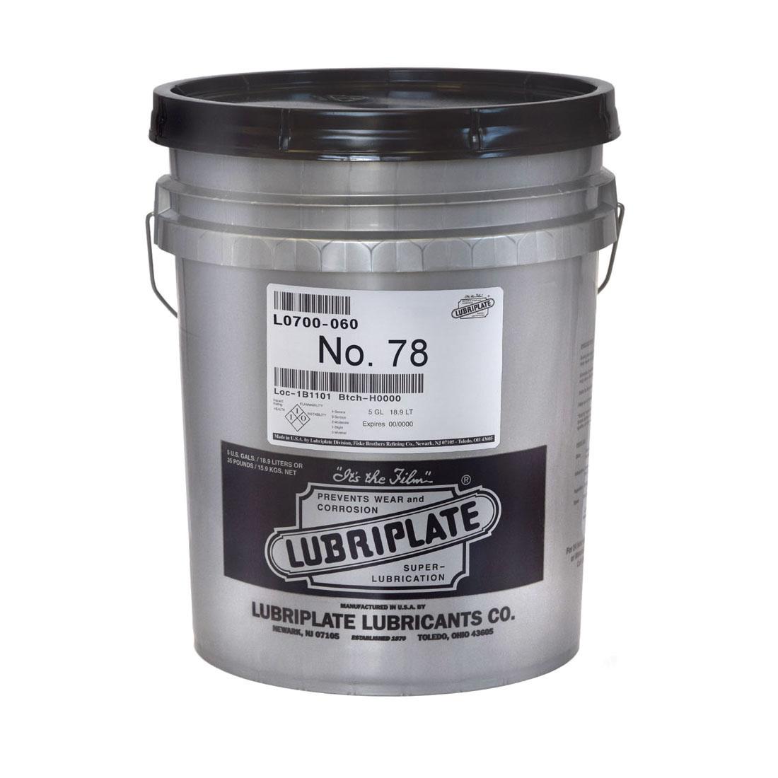 Lubriplate® L0700-060 NO 78 Machine Oil, 5 gal Pail, Mineral Oil Odor/Scent, Liquid Form, Amber