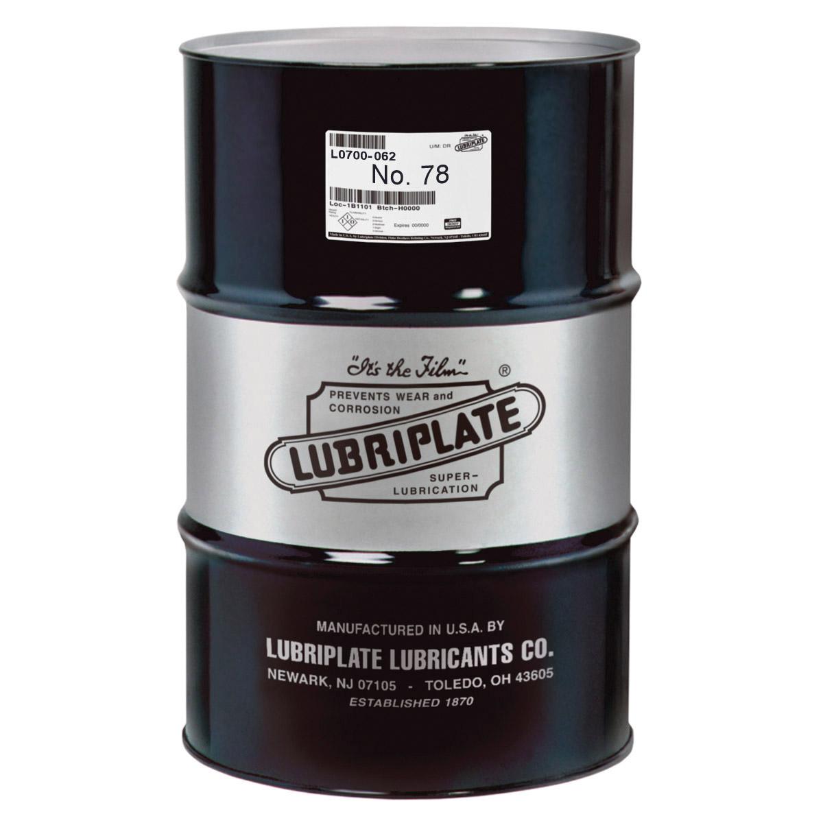 Lubriplate® L0700-062 NO 78 Machine Oil, 55 gal Drum, Mineral Oil Odor/Scent, Liquid Form, Amber