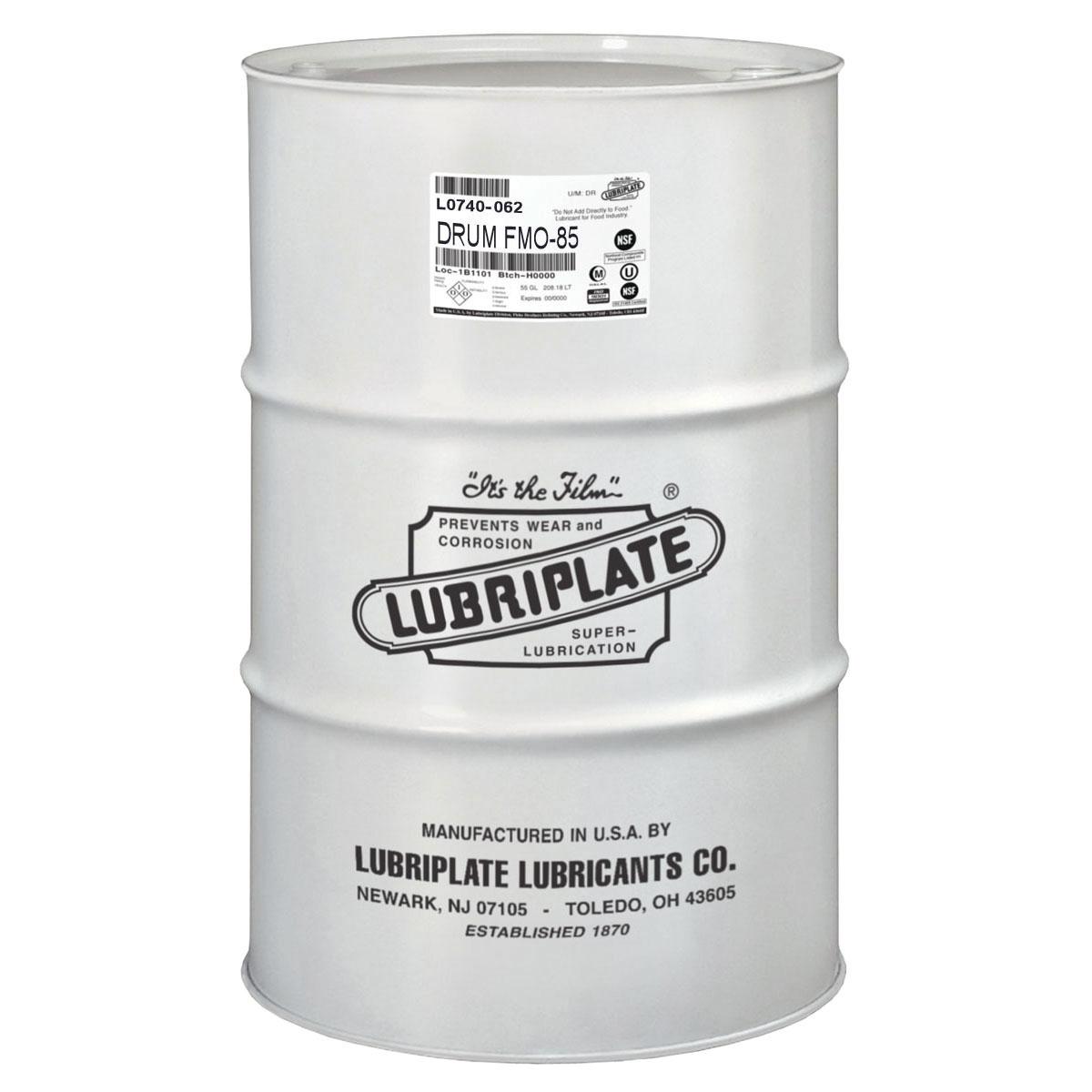 Lubriplate® L0740-062 FMO-85 Multi-Purpose Machine Oil, 55 gal Drum, Mineral Oil Odor/Scent, Liquid Form, Water White