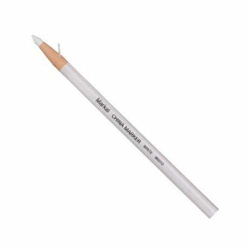 Markal® 096010 General Purpose Paper-Wrapped Grease Pencil Marker, 3/8 in, Paraffin Wax, White