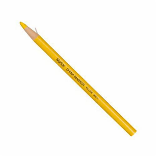 Markal® 096011 General Purpose Paper-Wrapped Grease Pencil Marker, 3/8 in, Paraffin Wax, Yellow