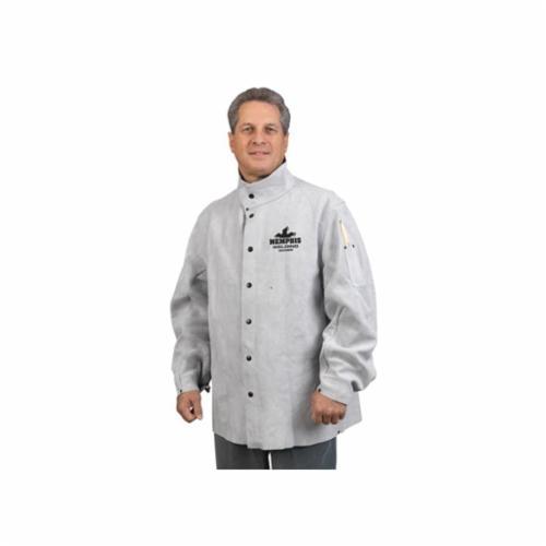 Memphis 38030MWXXXL Memphis Welding Jacket, 3XL, Leather, Gray, Resists: Heat, Spark, Slag and Cut