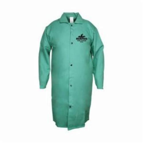 Memphis 39045L Welding Jacket, L, L/F Cotton, Green, Resists: Flame, Spark and Splash, NFPA-701