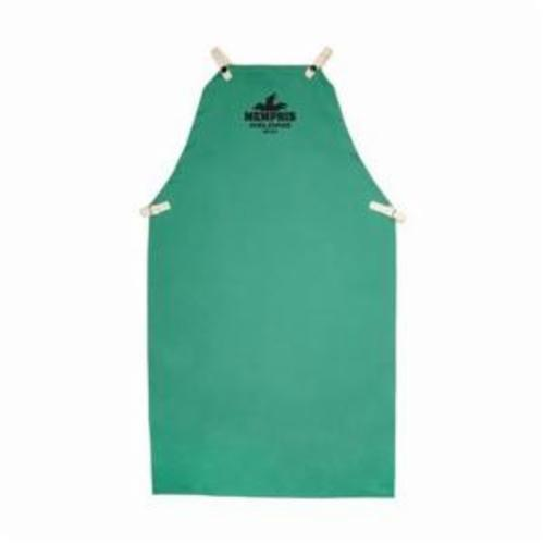 Memphis 39142 Bib Apron, 42 in L x 24 in W, L/F Cotton, Green, Anodized Button Snap Closure
