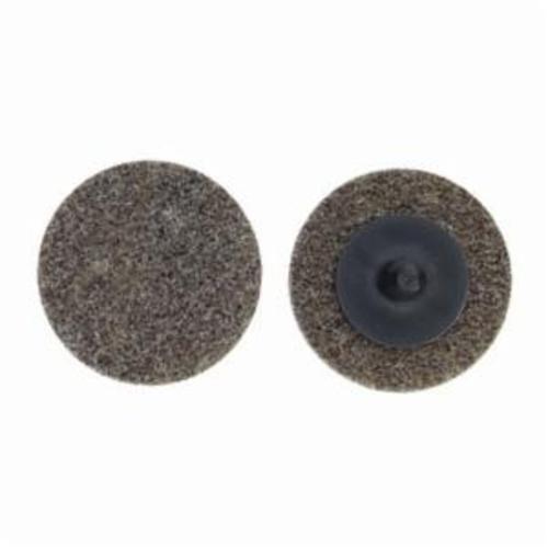 Merit® Bear-Tex® 66261054193 Button Mount Non-Woven Unitized Wheel, 3 in Dia, 1/4 in W Face, Medium Grade, Aluminum Oxide Abrasive