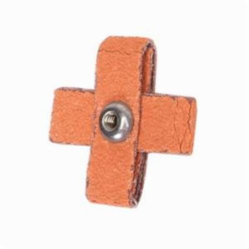 Merit® Blaze® 66261194508 Supersized Coated Cross Pad, 1-1/2 in L x 1-1/2 in W x 1/2 in THK, #8-32 Eyelet Thread, 80 Grit
