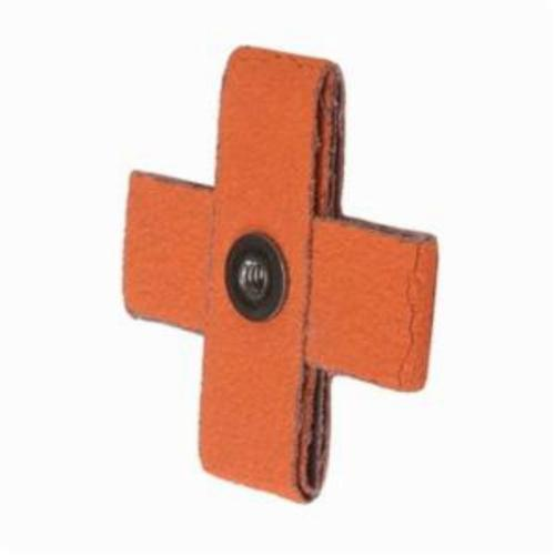 Merit® Blaze® 66261194549 Supersized Coated Cross Pad, 3 in L x 3 in W x 1 in THK, 1/4-20 Eyelet Thread, 80 Grit