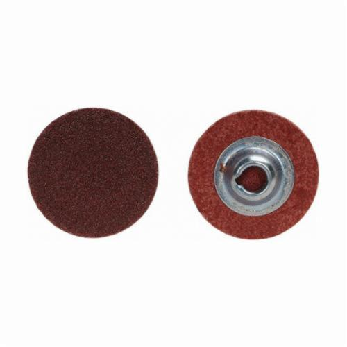 Merit® 69957399751 Coated Abrasive Quick-Change Disc, 1 in Dia, 40 Grit, Extra Coarse Grade, Aluminum Oxide Abrasive, Type TP (Type I) Attachment