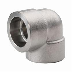 Merit Brass SW3401D-12 Pipe 90 deg Elbow, 3/4 in, Socket Weld, 3000 lb, 304/304L Stainless Steel, Import