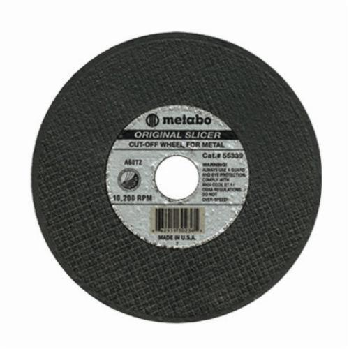 metabo® 655317000 Original Type 1 Cut-Off Wheel, 3 in Dia x 0.04 in THK, 3/8 in Center Hole, 60 Grit, Aluminum Oxide Abrasive