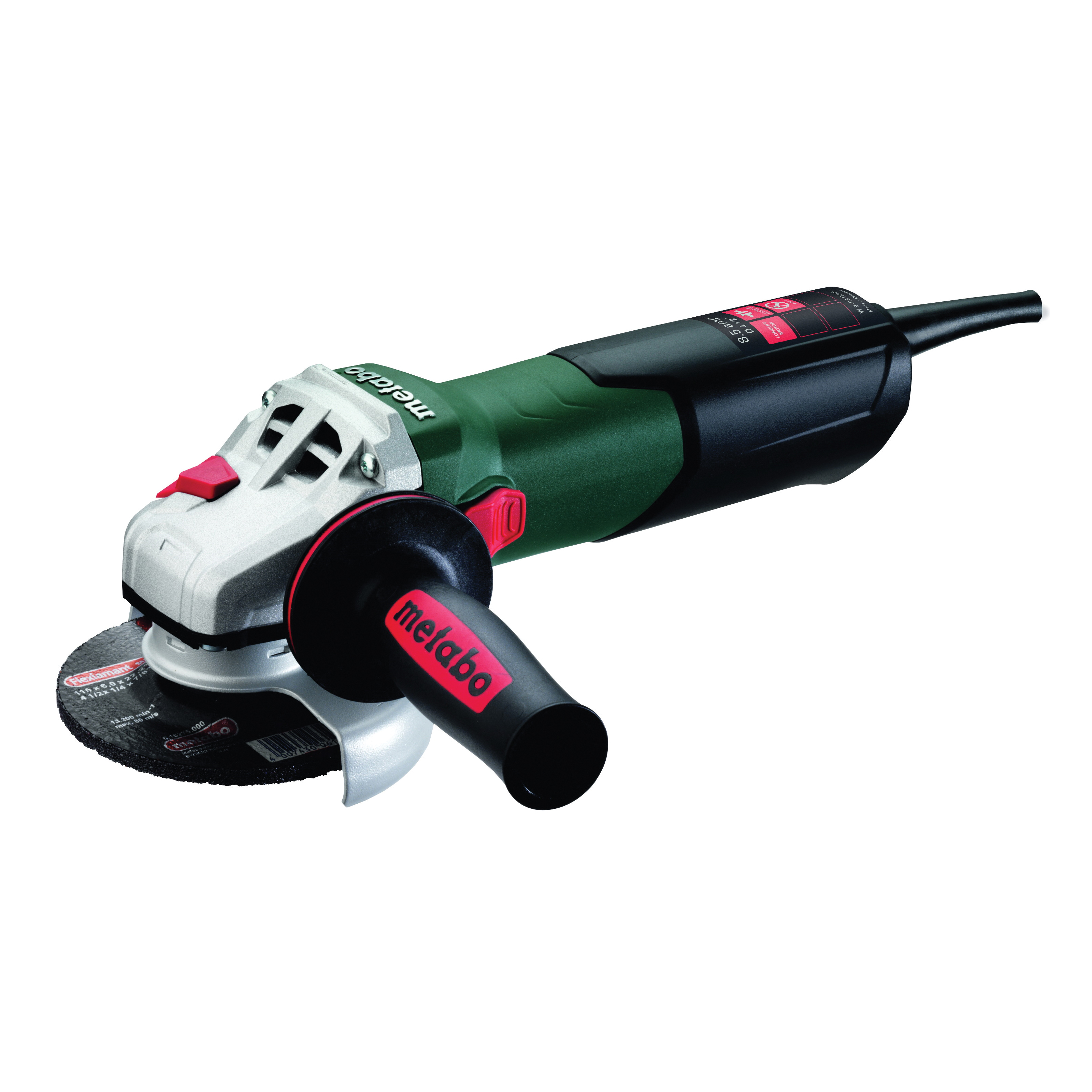 metabo® 600371420 Electric Angle Grinder, 4-1/2 in Wheel, 5/8-11 UNC, 110 to 120 V, Tool Only