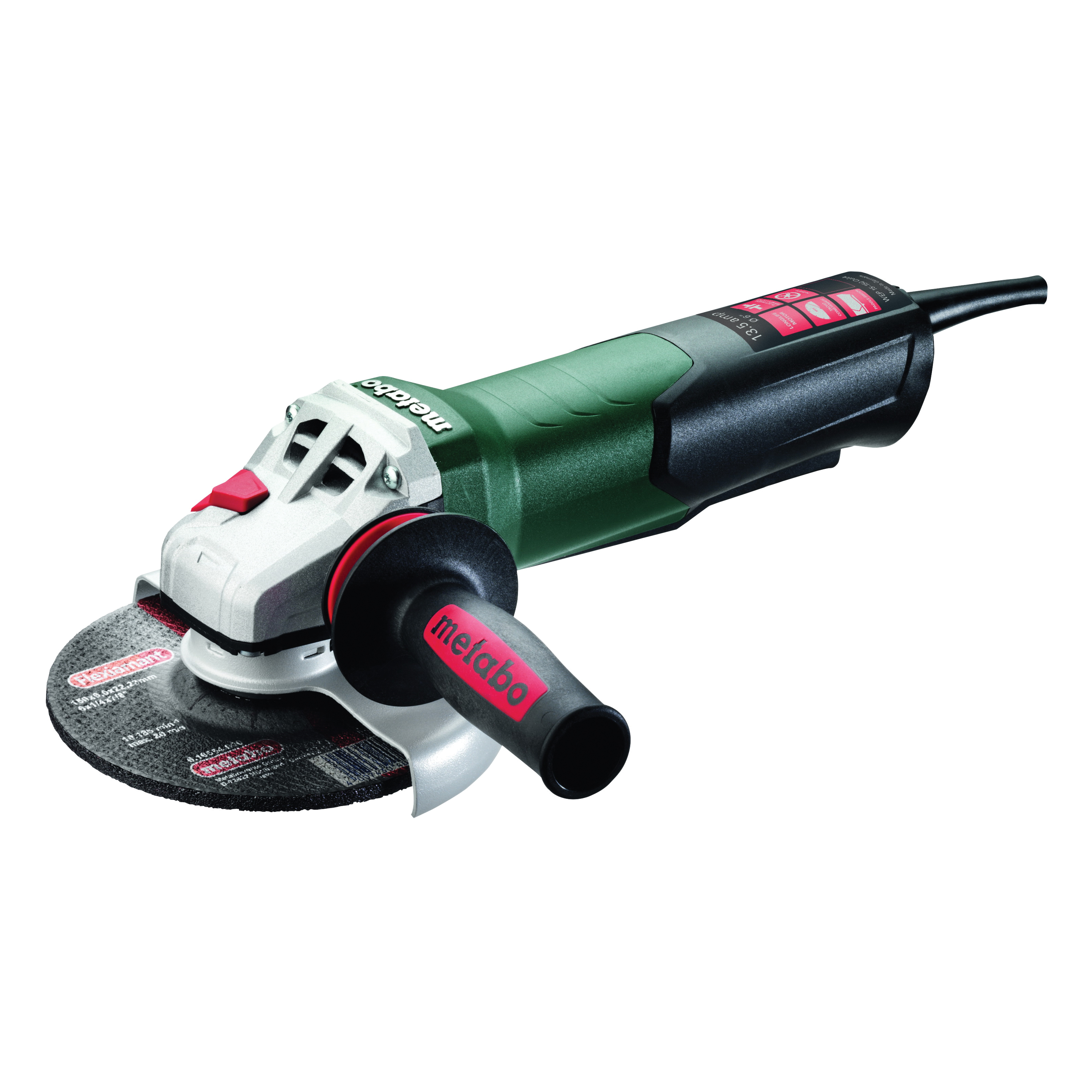 metabo® 600488420 Electric Angle Grinder, 6 in Dia Wheel, 5/8-11 UNC Arbor/Shank, 110 to 120 VAC