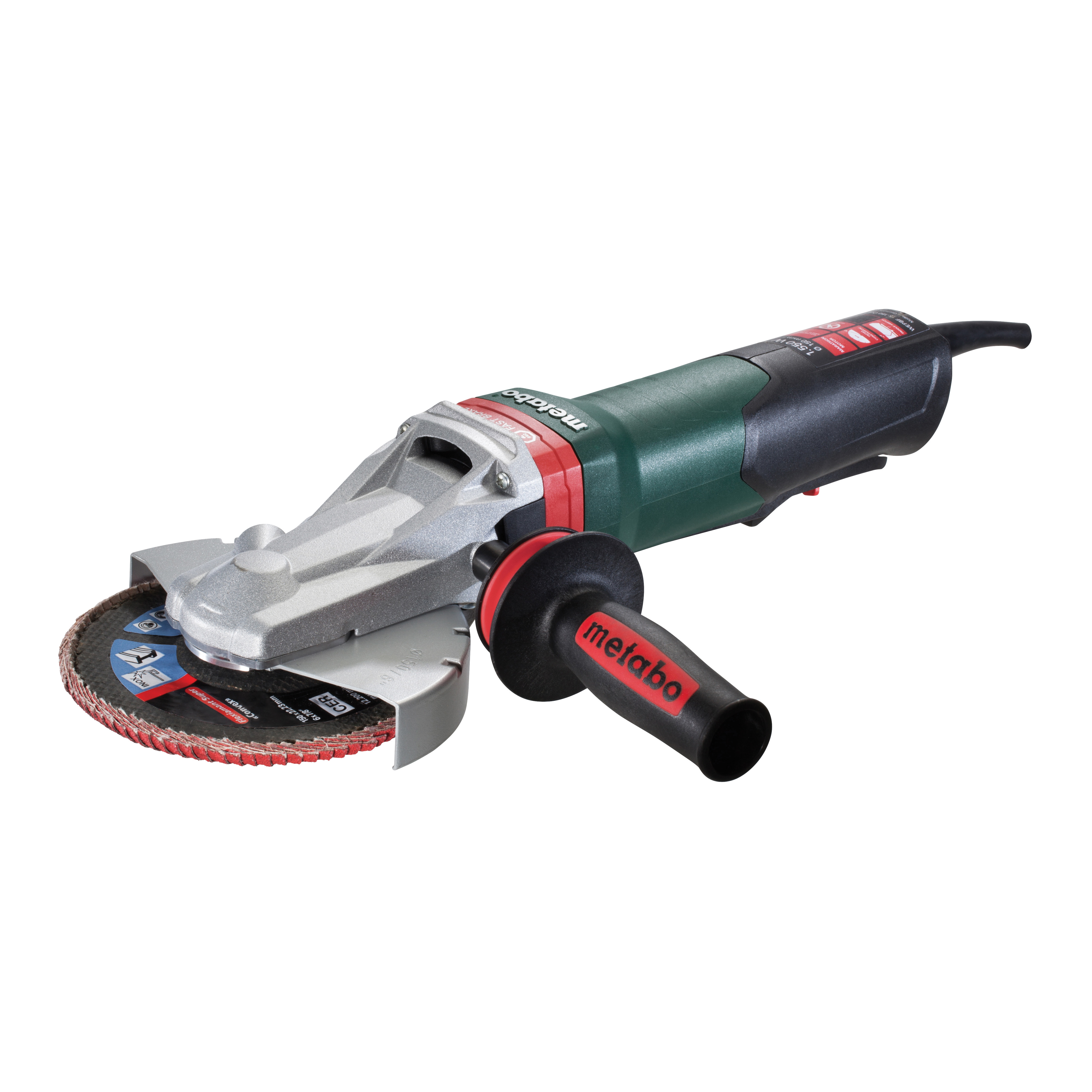 "Metabo WEPBF 15-150 Quick 6"" Flat Head Angle Grinder"
