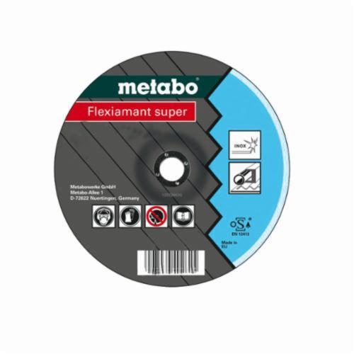 metabo® Flexiamant Super 616739000 Flexiamant Super Offset Depressed Center Wheel, 115 mm Dia x 6 mm THK, 22.23 mm Center Hole, A36O Grit, Aluminum Oxide Abrasive