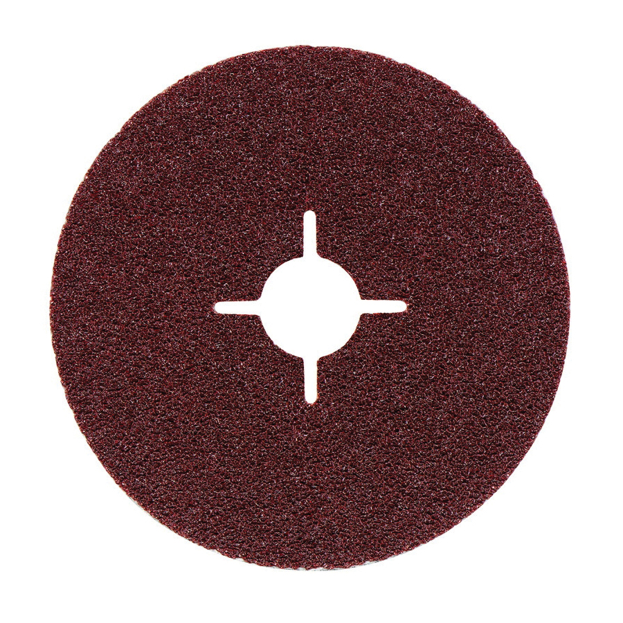 metabo® 624218000 Close Coated General Purpose Round Hole Slotted Heavy Duty Abrasive Disc, 5 in Dia, 7/8 in Center Hole, P24 Grit, Aluminum Oxide Abrasive, Arbor Attachment