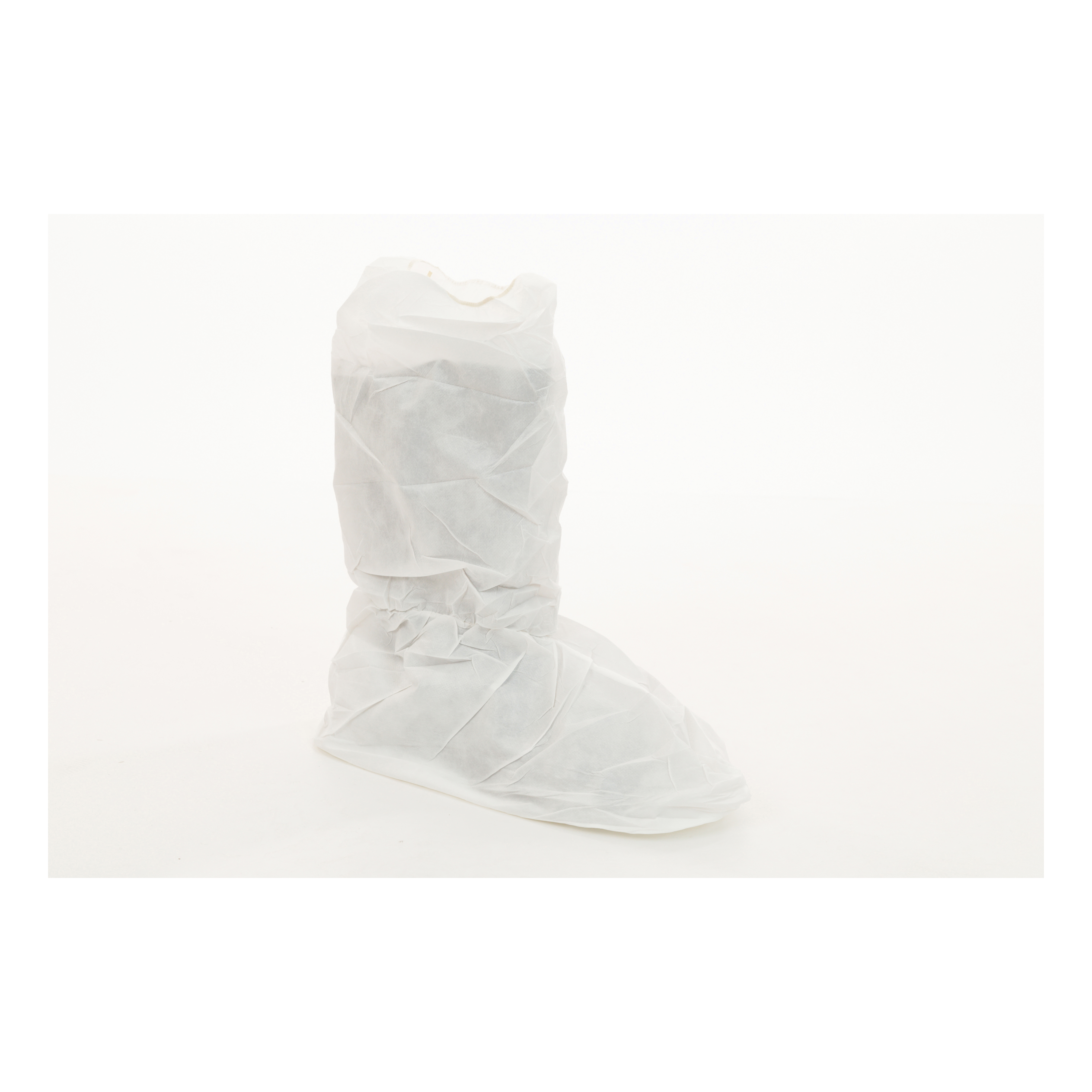 MicroGuard CE® CE8104-BP Clean Processed Shoe Cover With Vinyl Sole, Unisex, L Fits Shoe, White, Elastic Closure, Microporous Fabric Outsole, Resists: Tear, Specifications Met: ASTM T903, INDA IST 100.2, AATCC 127, CPSC 1610, GB/T 12074-1991