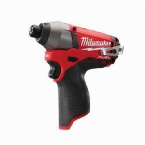 Milwaukee® 2453-20 M12™ FUEL™ Compact Cordless Impact Driver With Belt Clip, 1/4 in Hex/Straight Drive, 3550 bpm, 1200 in-lb Torque, 12 VAC, 6 in OAL
