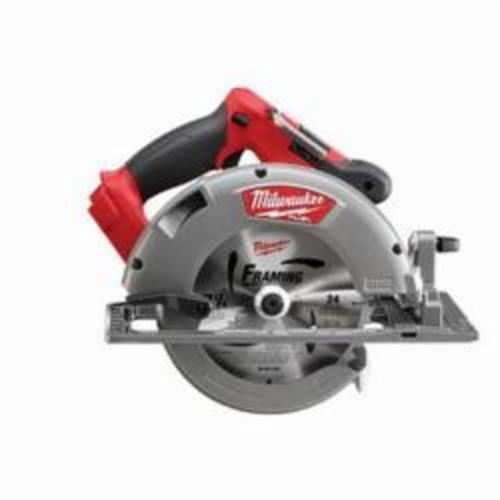 Milwaukee® 2731-20 M18™ FUEL™ Cordless Circular Saw, 7-1/4 in Blade, 5/8 in Arbor/Shank, 18 VDC, 1-7/8 in, 2-1/2 in D Cutting, Lithium-Ion Battery, Bare Tool