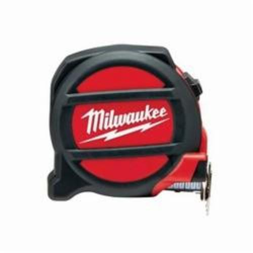Milwaukee® 48-22-5126 Non-Magnetic Measuring Tape With Belt Clip, 25 ft L x 1-1/16 in W Blade, Steel Blade, Imperial Measuring System, 1/16 in Graduation