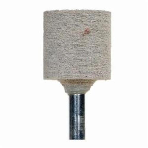 Norton® 61463622646 Cotton Fiber Mounted Point, W220 Cylindrical Point, 1 in Dia x 1 in L Head, 1/4 in Dia Shank