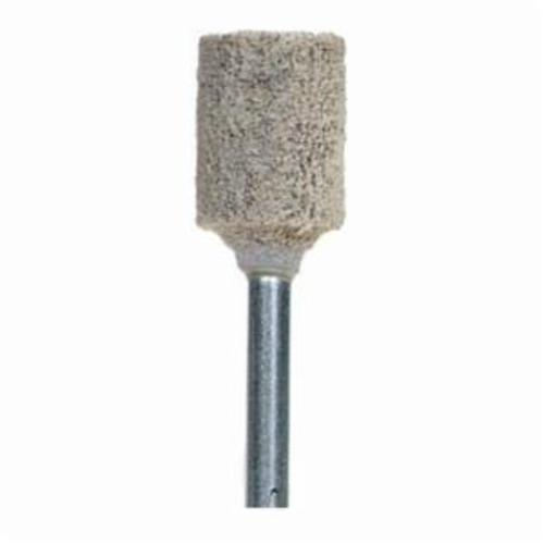 Norton® 61463622654 Cotton Fiber Mounted Point, W176 Cylindrical Point, 3/8 in Dia x 1/2 in L Head, 1/8 in Dia Shank