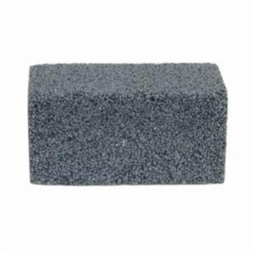 Norton® 61463653292 Plain Floor Rubbing Brick With Wooden Wedges, 4 in L x 2 in W x 2 in THK, C6-R Grit, Silicon Carbide Abrasive
