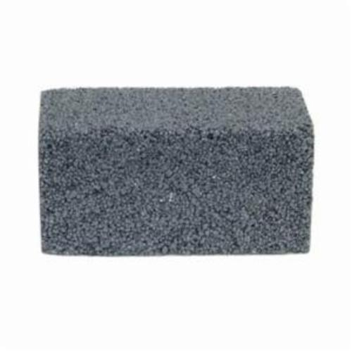 Norton® 61463653295 Plain Floor Rubbing Brick With Wooden Wedges, 4 in L x 2 in W x 2 in THK, C80-R Grit, Silicon Carbide Abrasive