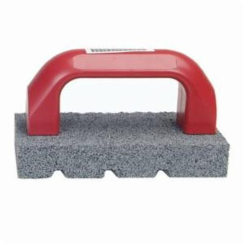 Norton® 61463687795 Fluted Hand Rubbing Brick With Handle, 8 in L x 3-1/2 in W x 1-1/2 in THK, C20 Grit, Silicon Carbide Abrasive