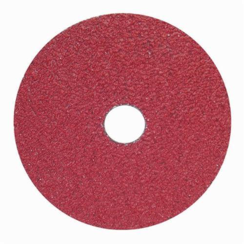 Merit® Metal® 66623353313 F240 Coated Abrasive Disc, 4-1/2 in Dia, 7/8 in Center Hole, 100 Grit, Fine Grade, Aluminum Oxide Abrasive, Center Mount Attachment