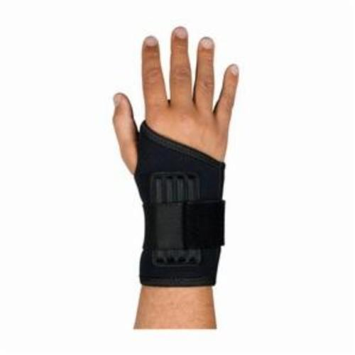PIP® 290-9013L Ambidextrous With Stays, L, Hook and Loop Closure, Elastic Strap, Black