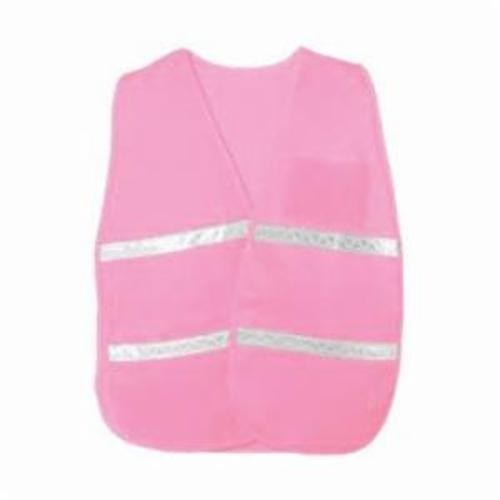 PIP® 300-1516/2X-3X Incident Command Vest, 2XL/3XL, Pink, Polyester, 42.1 in Chest, Hook and Loop Closure