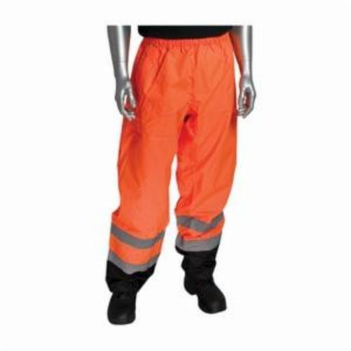 PIP® 318-1757-OR/2X 318-1757 2-Tone Breathable Hi-Visibility Overpant, 37.8 in Waist, Hi-Viz Orange with Black Trim, Polyester