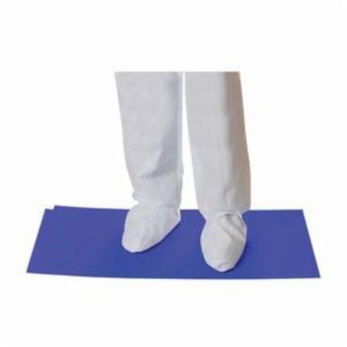 PIP® CleanTeam® 100-93-183638B Contamination Control Mat, 36 in L x 18 in W x 0.05 mm THK, Blue, Polyethylene