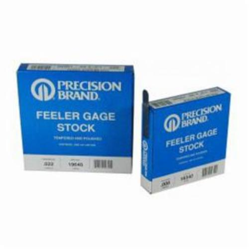 Precision Brand® 19H1 Feeler Gage, 1 Blades, 25 ft Coil L x 1/2 in W x 0.001 in THK, C1095 Spring Steel