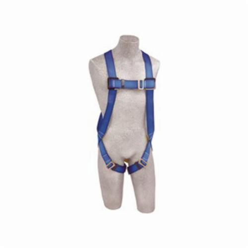 3M Protecta Fall Protection AB17510 First™ Harness, Universal, 310 lb Load, Polyester Strap, Pass-Thru Leg Strap Buckle, Pass-Thru Chest Strap Buckle, Steel Hardware, Blue