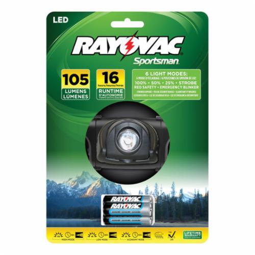 Rayovac® SE3AAAMN-BA Sportsman Extreme Mini Flashlight, 1 W, LED Bulb, Anodized Aluminum Housing, 80 Lumens Lumens