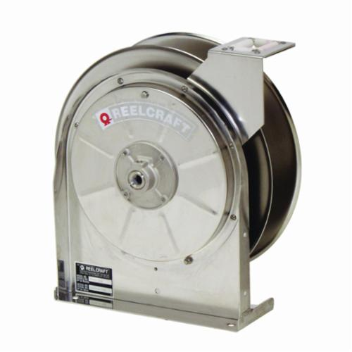 Reelcraft® 5600 OLS 5000 Corrosion-Resistant Low and Medium Pressure Hose Reel, 3/8 in ID x 3/5 in OD x 35 ft L Hose, 300 psi Pressure, 14 in Dia x 2-1/2 in W Reel, Domestic