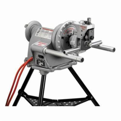 RIDGID® 25638 975 Combo Roll Groover, 1-1/4 to 6 in Pipe Capacity, Ridgid® 300 Power Drive Power, Aluminum/Copper/PVC/Steel/Stainless Steel Pipe