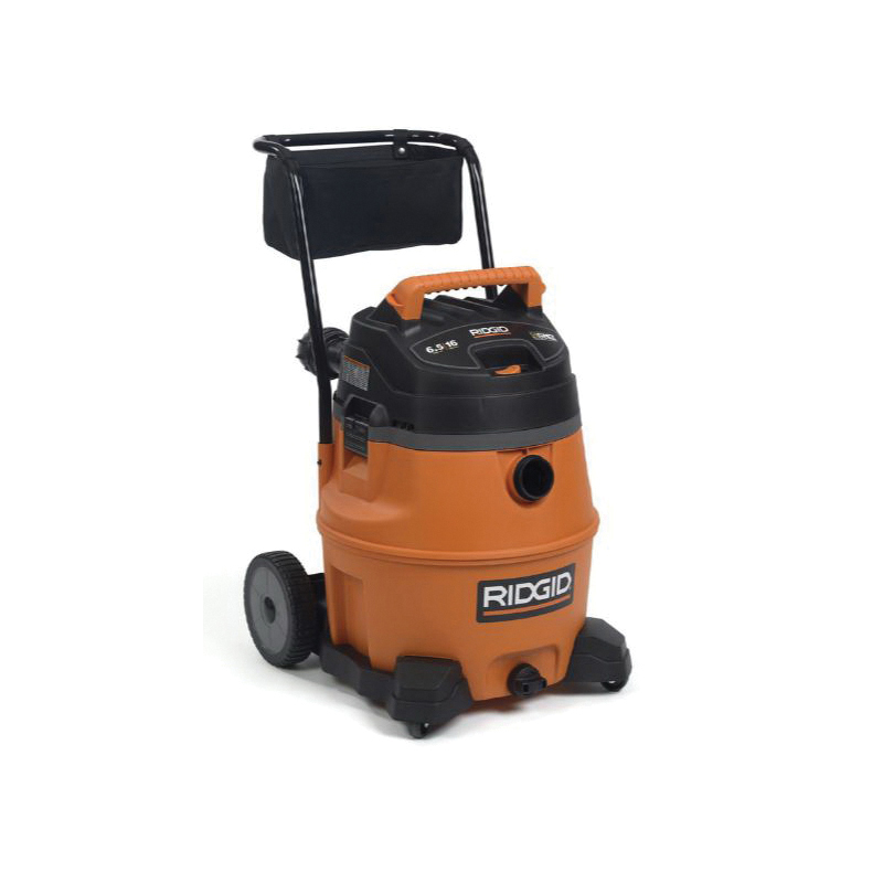 RIDGID® 31693 ProVac Wet/Dry Vacuum Cleaner With Cart, 16 gal, 306 W/6.5 Hp, 12 A, 120 V, High Impact Polypropylene Housing