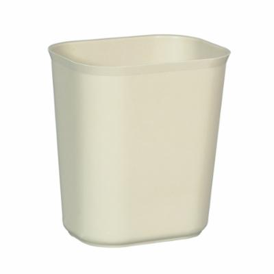 Rubbermaid® FG254100BEIG Fire Resistant Wastebasket, 14 qt, 11.1 in L, Thermoset Polyester, Beige