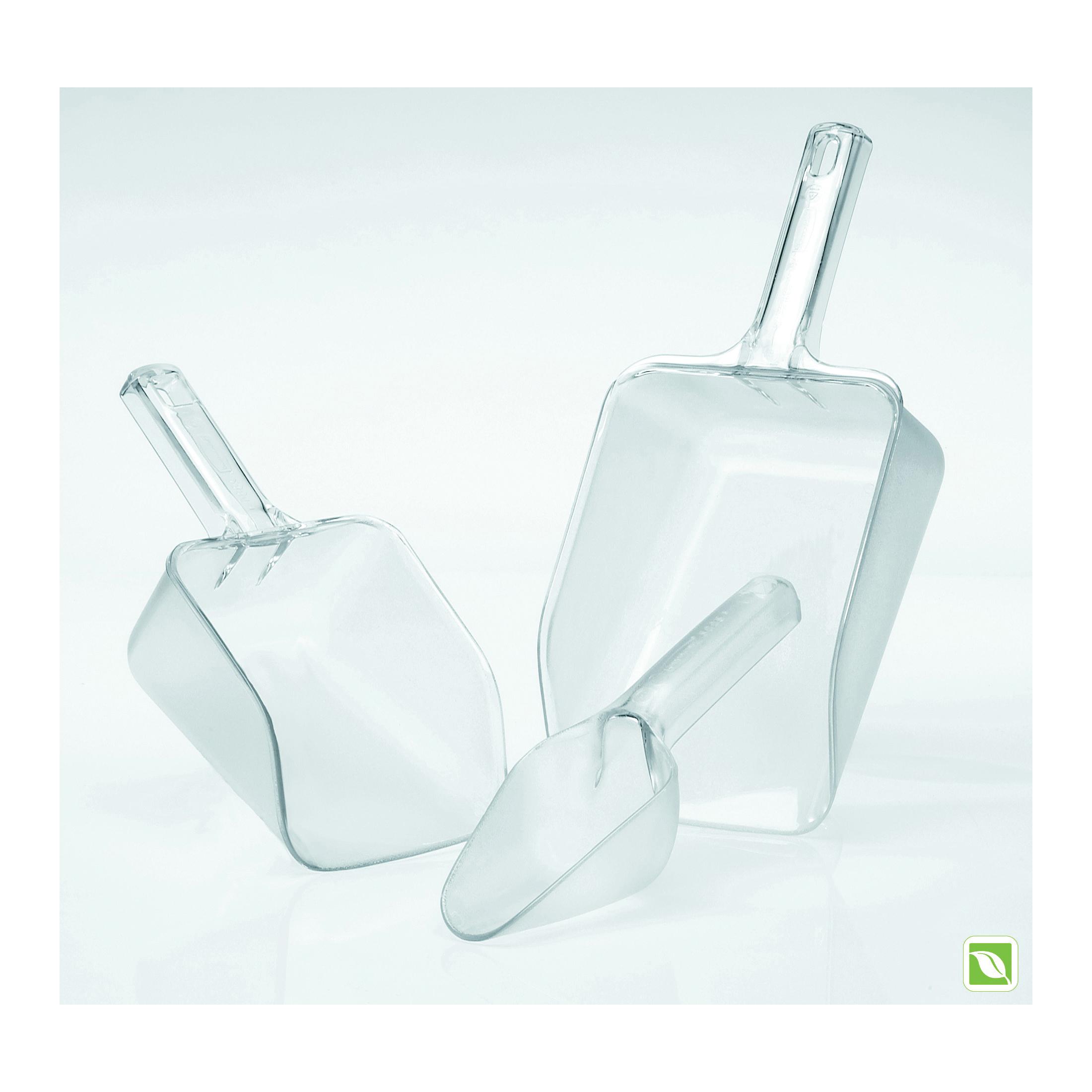Rubbermaid® FG288400CLR 2884 Bouncer® Multi-Purpose Utility Scoop, 32 oz, 3-3/4 in L Handle, Corrugated Plastic/Polycarbonate