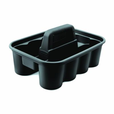 Rubbermaid® FG315488BLA Deluxe™ Carry Caddy, For Use With Carrying Tools/Cleaning Supplies, Plastic, Black