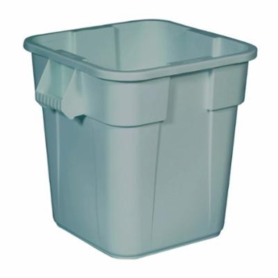 Rubbermaid® BRUTE® FG352600GRAY Utility Waste Container, 28 gal Capacity, Squared, 22-1/2 in H, Plastic, Gray