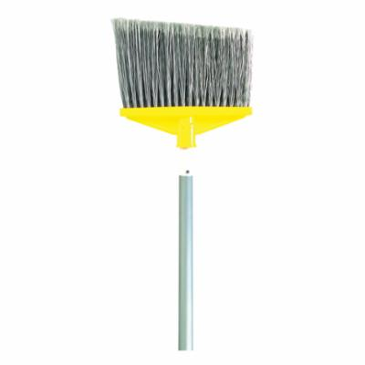 Rubbermaid® FG638500GRAY Angle Broom With Metal Handle, Polypropylene Bristle, 10-1/2 in Sweep Face, 9.29 in W, 6-3/4 in L Trim, Aluminum Handle, 58 in OAL