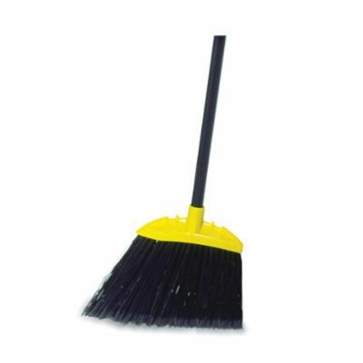 Rubbermaid® FG638906BLA Jumbo Smooth Sweep Angle Broom, Polypropylene Bristle, Smooth Sweep Face, 11.79 in W, Metal Handle, 54-1/2 in OAL